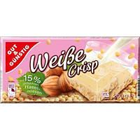 Шоколад  белый с лесным орехом Weibe crisp hasel-nussen Gut &Gunstig   Германия 200г