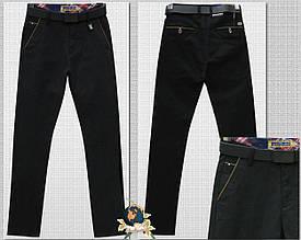 Мужские чёрные брюки под джинсы с ремнём Resalsa