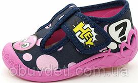 Дитячі польські тапочки для дівчинки 23 -14.5 см