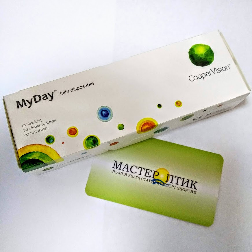 Одноденні контактні лінзи Cooper Vision, MyDay daily disposable, (30 шт.)