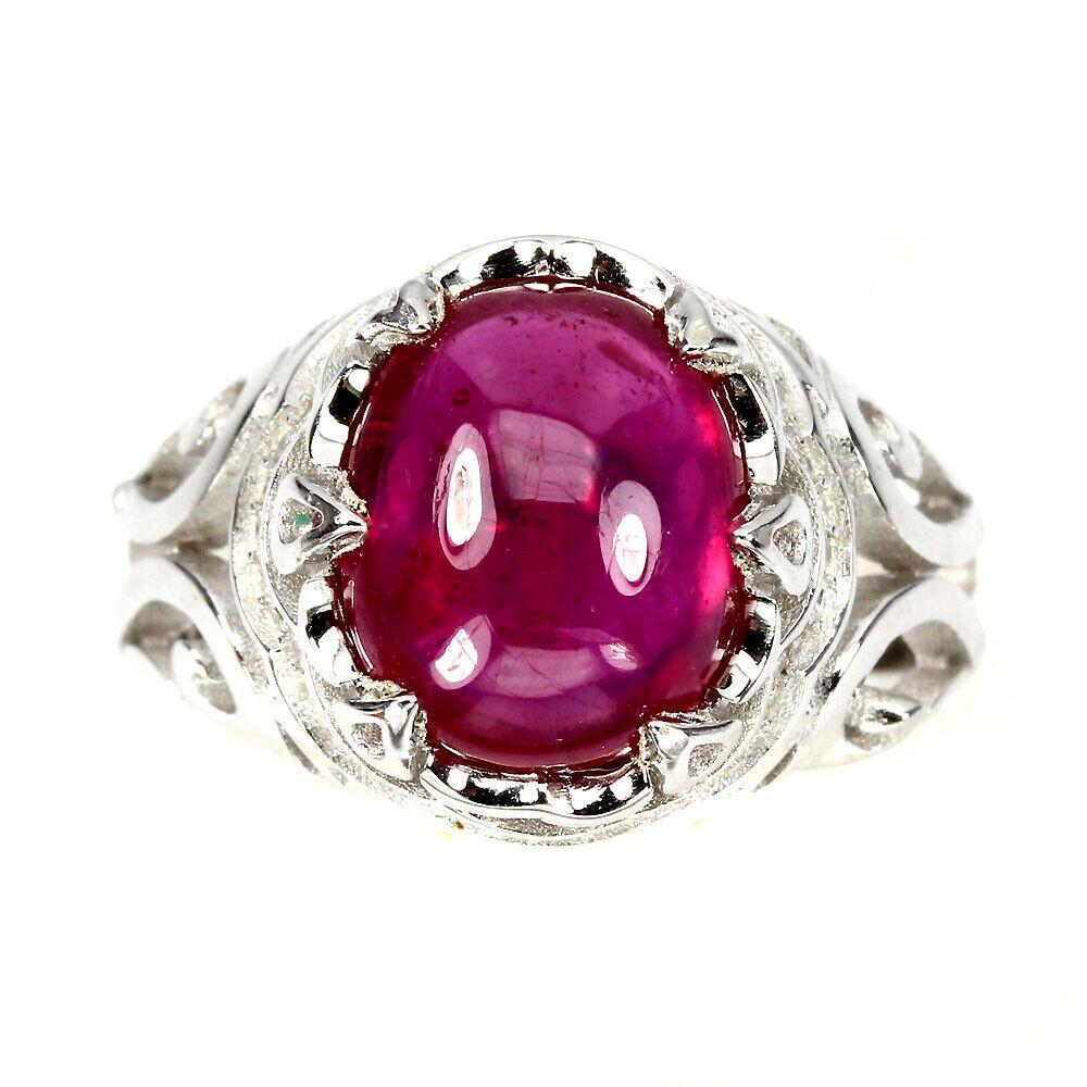 Серебряное кольцо с рубинами 094 размер 20