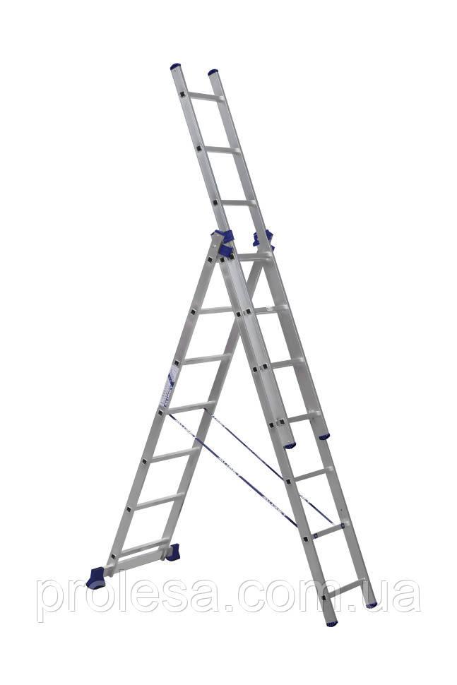 Лестница трехсекционная 3х7 ступеней