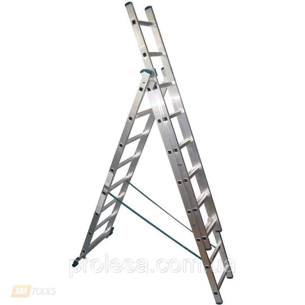 Лестница трехсекционная 3х8 ступеней
