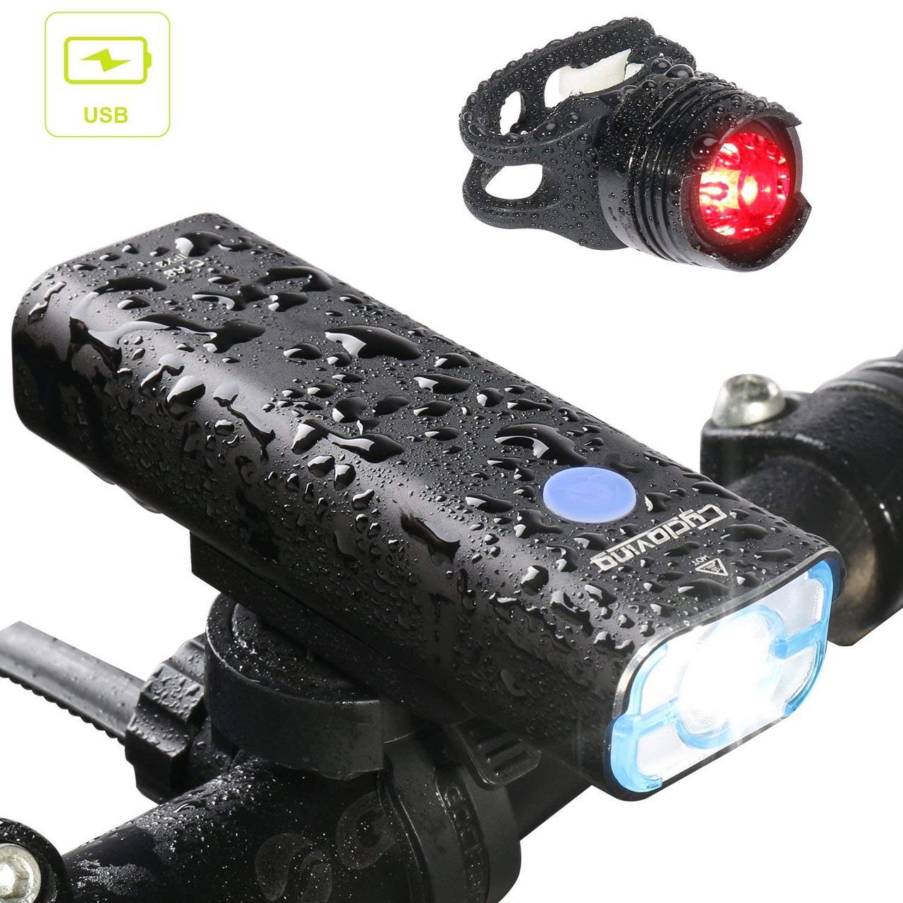 Светодиодные велосипедные фонари Cycloving передний и задний водостойкие
