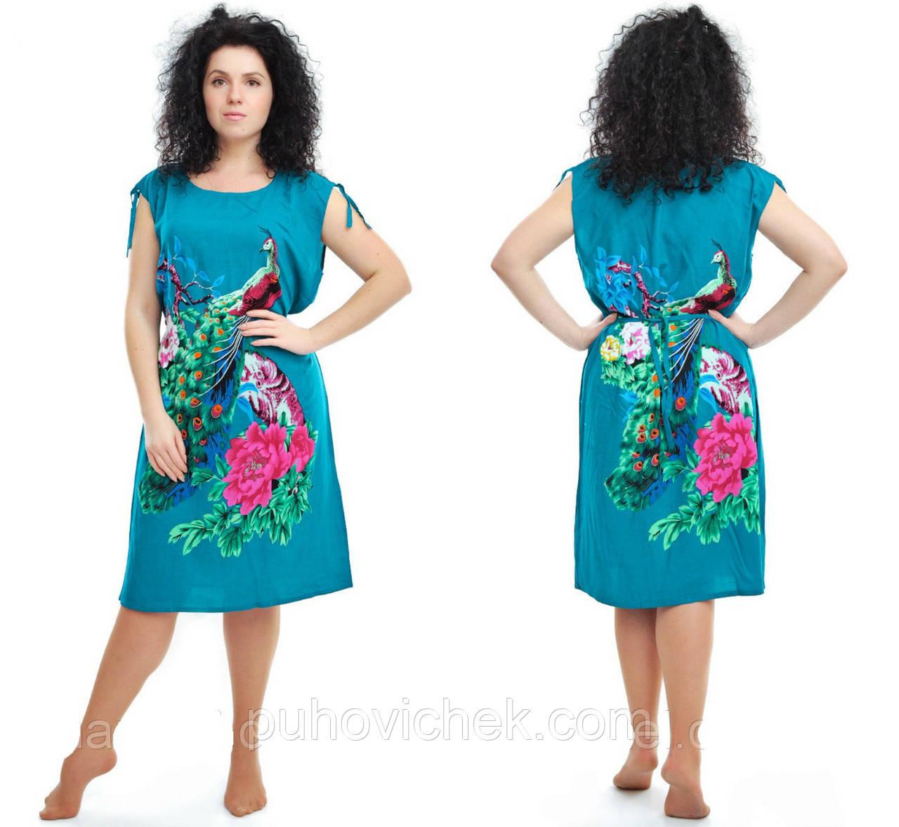 Трикотажне плаття туніка жіноче літо розміри 48-52