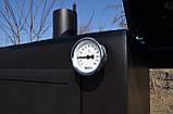 Коптильня горячего и холодного копчения БОМБА с квадратной камерой, фото 5