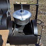 Коптильня горячего и холодного копчения БОМБА с квадратной камерой, фото 9