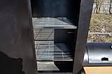 Коптильня горячего и холодного копчения БОМБА с квадратной камерой, фото 4