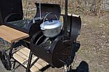 Коптильня горячего и холодного копчения БОМБА с квадратной камерой, фото 10