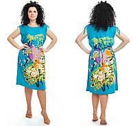 Летние молодежные платья и туники удлиненные размеры 48-52