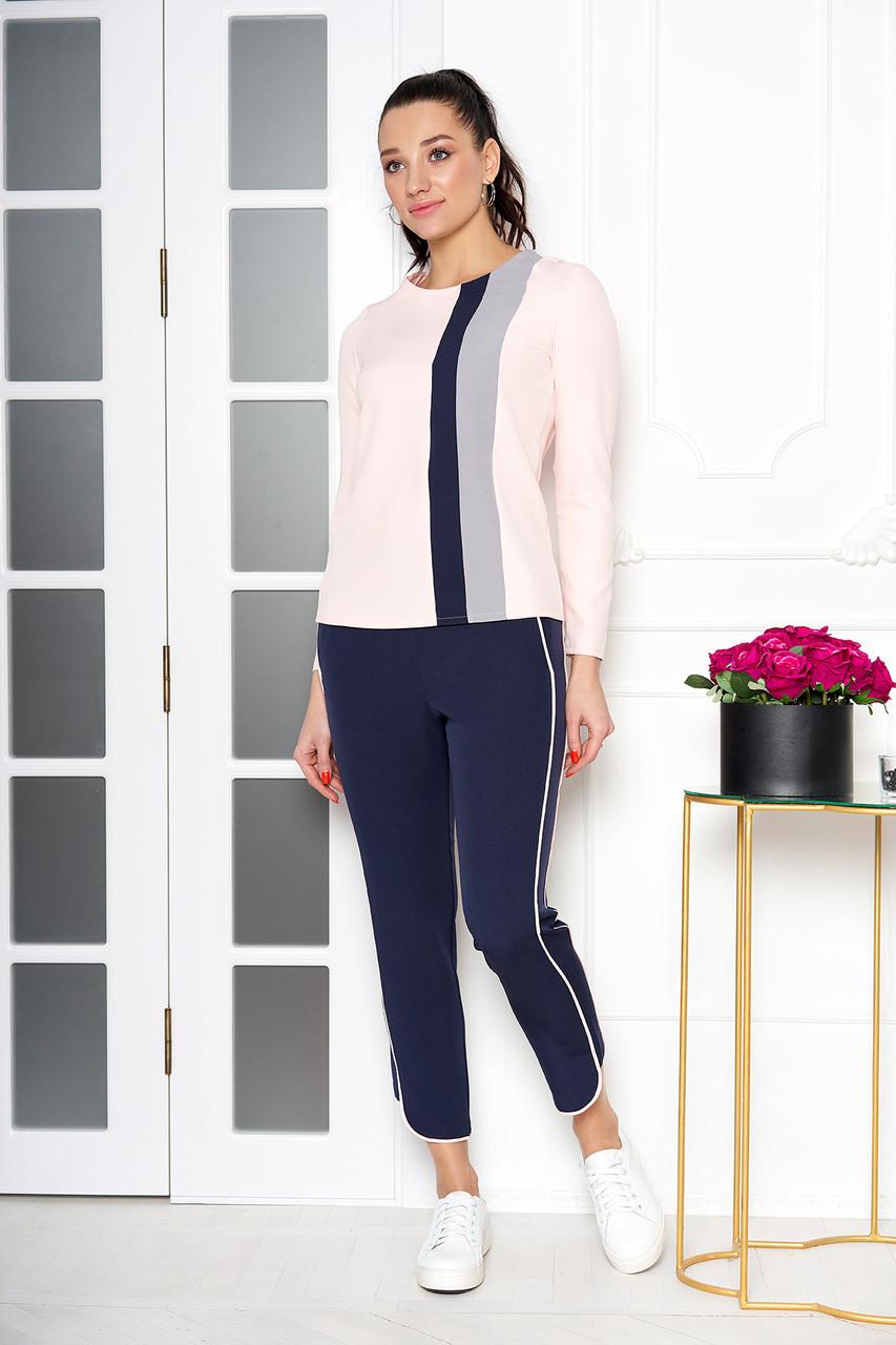 785bf979818 Костюм женский брючный с блузкой синий - Интернет-магазин одежды ALLSTUFF в  Киеве