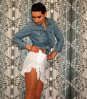 Cover-up юбка  Dotti  белая с воланом (one size)