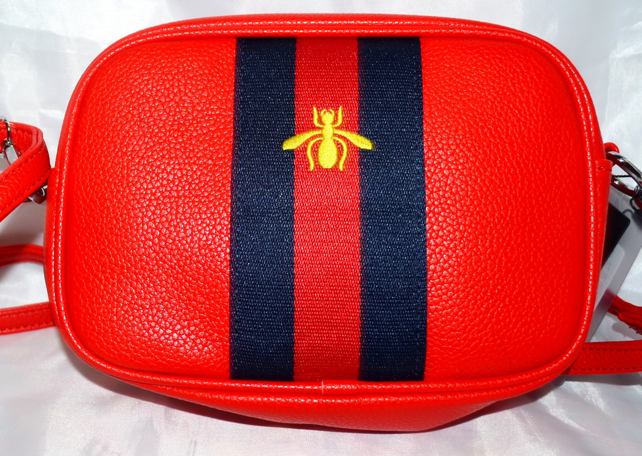 a5c954988b6b Женская сумка на плечо Гучи, Gucci сумочка клатч с пчелой. Красная ...