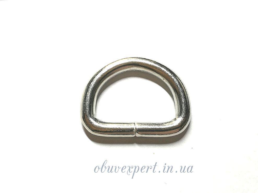 Полукольцо  проволочное 25*18 мм, толщ. 4 мм, Никель