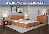 Кровать деревянная Премьер из натурального дерева двуспальная, фото 1