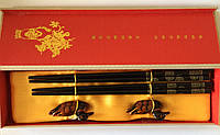 """Палочки для еды """"Богатство и Процветание"""", с подставками, в подарочной коробке"""