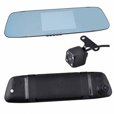 Только опт!!! Автомобильный видеорегистратор-зеркало DVR L505C с двумя камерами, 4.3'', 1080P Full HD, фото 2
