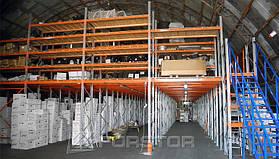 5 уровней хранения на стеллажах с настилом OSB
