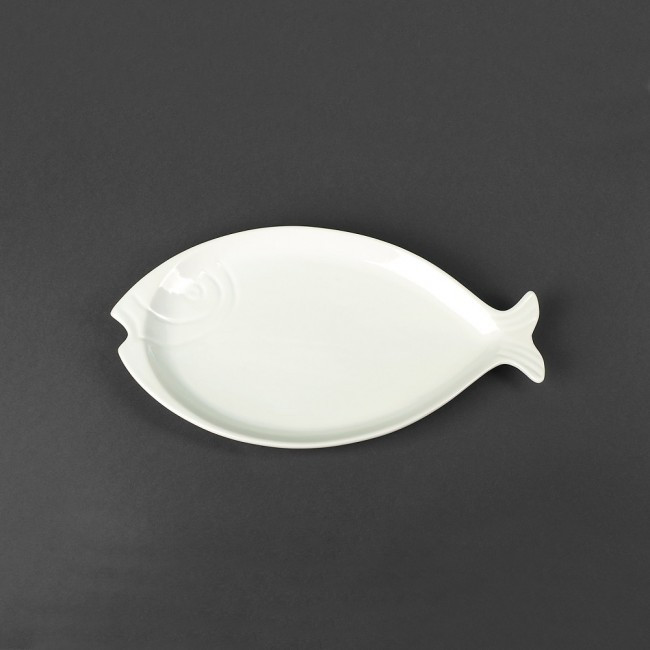 Блюдо для рыбы фарфоровое «Рыба» Helios 310х175 мм (HR1440)