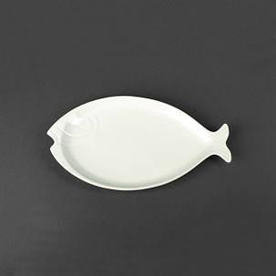 Блюдо для рыбы фарфоровое «Рыба» Helios 310х175 мм (HR1440), фото 2