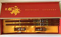 """Палички для їжі """"Лелека"""", з підставками, в подарунковій коробці, фото 1"""