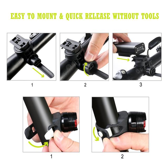 Светодиодные велосипедные фонари передний и задний