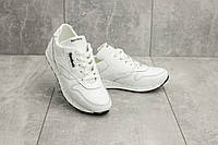571f7586 Женские/детские кроссовки белые из натуральной кожи Reebok топ-реплика