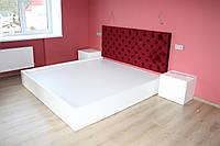 Спальный гарнитур , кровать с мягким изголовьем