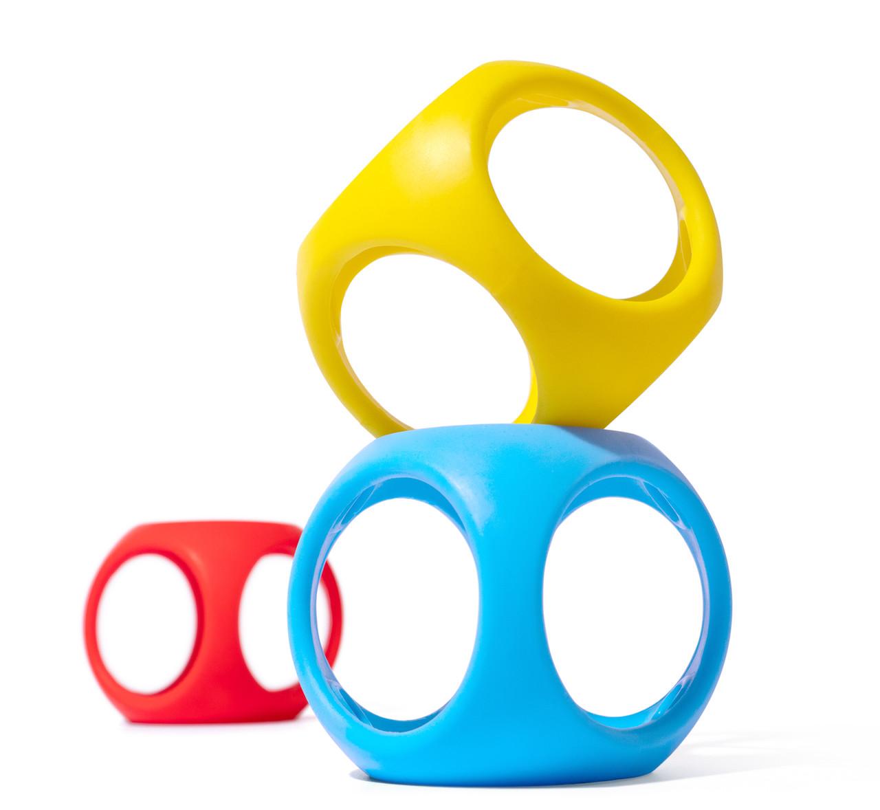 Игрушка-мяч Oibo (яркие цвета, 3 шт в уп.) Moluk.