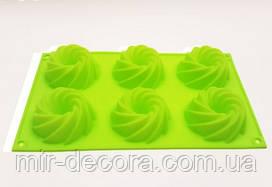Форма силиконовая для выпечки Виток 6 малый