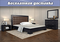 Кровать деревянная Подиум из натурального дерева двуспальная