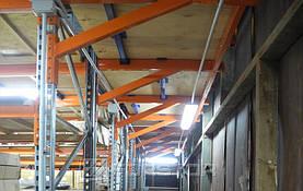Консольная конструкция опоры перекрытий боковых площадок мезонина