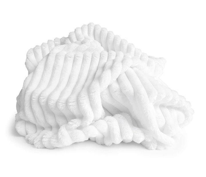 ✁ Відріз плюш Minky Stripes білий 100х80 см
