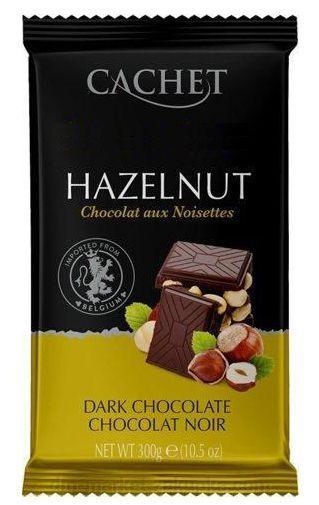 Шоколад черный Cachet (Кашет) 54 % какао с фундуком (лесной орех) 300 г Бельгия