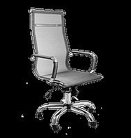 Офисное кресло Аэро серебристое