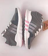 Кроссовки для девочек подростковые Adidas Equipment  EQT Серые