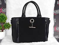 Женская сумка премиум класса с натуральной замшей, фото 1