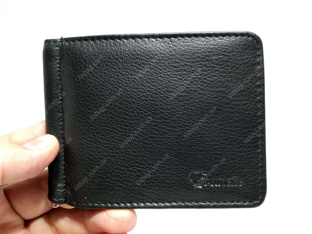 Мужской кожаный зажим/кошелек Eremette на магните для денег, повседневная носка