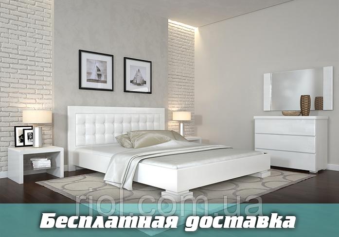 Кровать деревянная Монако двуспальная