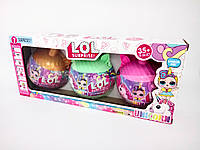 Набор 3 куклы Лолы с сюрпризом Lol Unicorn единорог в сумочке в коробке