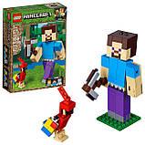 Конструктор LEGO MINECRAFT 21148 Великі фігурки Minecraft, Стів з папугою, фото 2