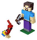 Конструктор LEGO MINECRAFT 21148 Великі фігурки Minecraft, Стів з папугою, фото 3