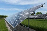 Система креплений солнечных батарей для наземного размещения промышленных СЭС, 36 СБ, 1х2м, фото 1