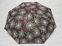 Женский зонт полуавтомат с фейерверками коричневый, фото 1