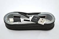 Кабель 4you DL-004 Type-C - USB (Cotton, Premium) 1м Black
