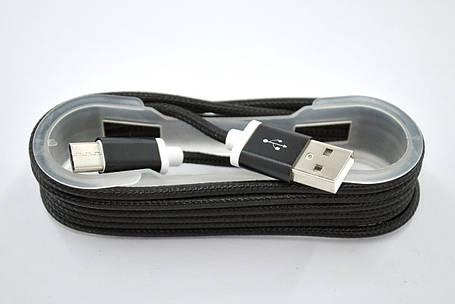 Usb-cable Type-C 4you DL-004 (Тканев. оплетка, коробка, Premium, 1м, черный), фото 2