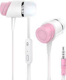 Гарнитура Golf GF-M4 white/pink Pure (плоский шнур)