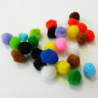 (≈ 1800шт.) 1см Помпончики (помпоны) мягкие шарики для рукоделия, поделок и декора