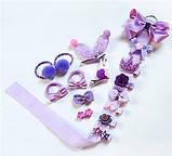 Набор украшений 18 заколок для Принцессы для девочки Сиреневый, фото 2