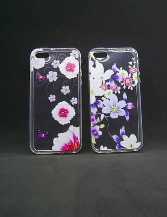 Чехол для Meizu M5s Silicone Fashion Diamond цветы , фото 2